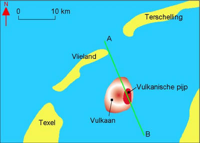 Een vulkaan in de Waddenzee.: www.nazatendevries.nl/Artikelen en Colums/Vulkaan in de Waddenzee...
